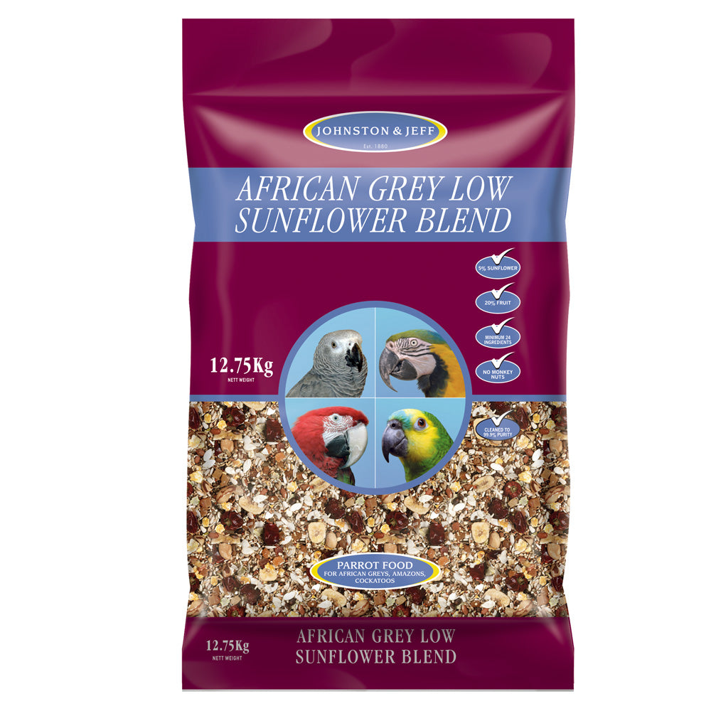12.75kg Johnston & Jeff Low Sunflower For African Greys