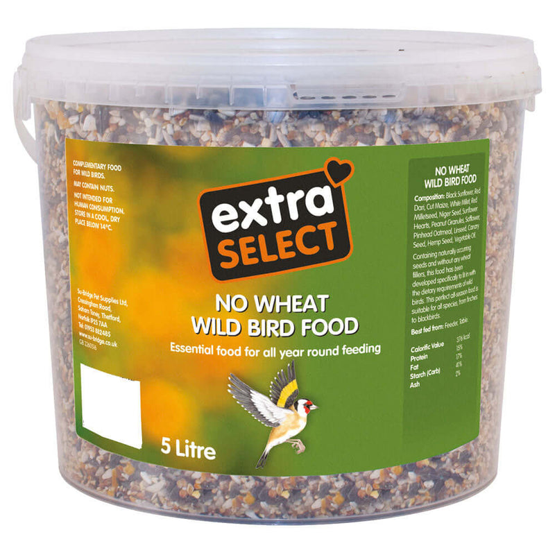 Extra Select No Wheat Wild Bird Food 5 litre bucket