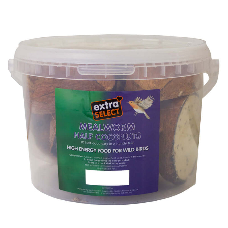 Extra Select Suet Coconuts in a bucket