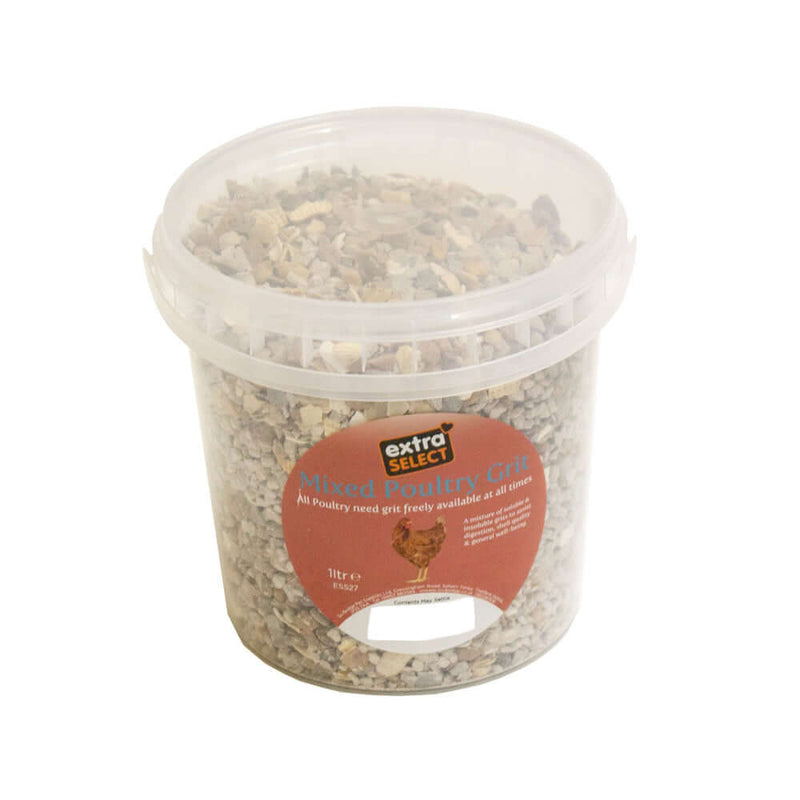 Extra Select Mixed Poultry Grit Tub 1 litre