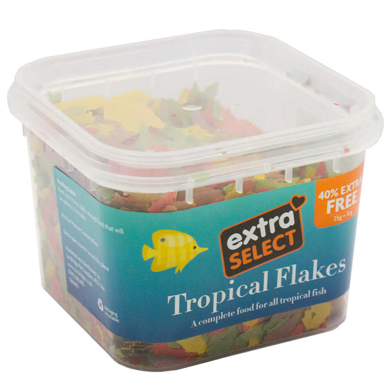 25g tub of Extra Select Tropical Flakes