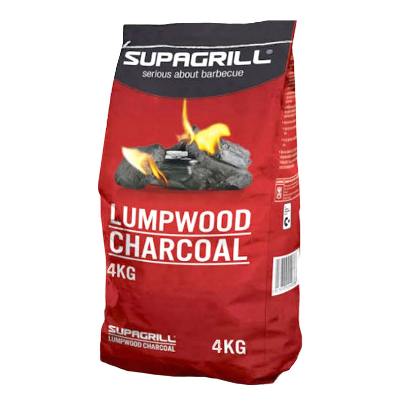4kg bag of Supagrill Lumpwood Charcoal