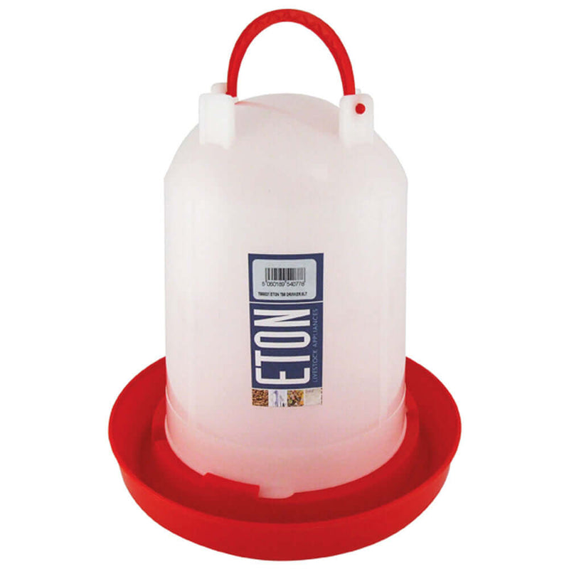 6ltr Eton Plastic Poultry Drinker With Handle