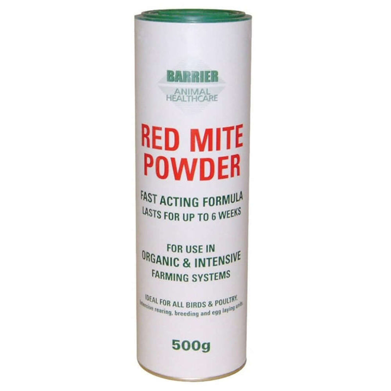 500g tub of Barrier Red Mite Powder