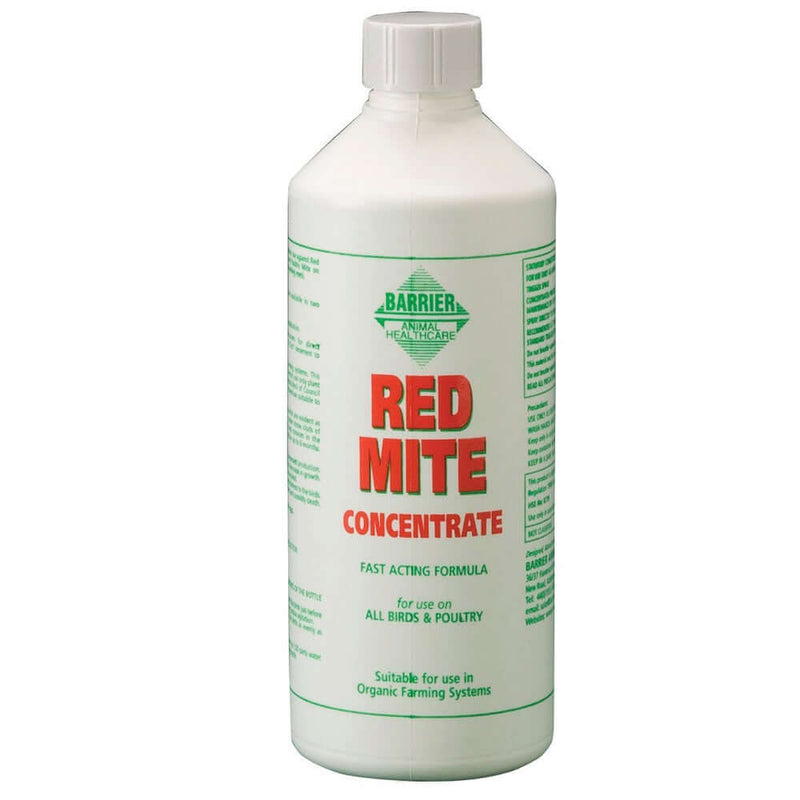 500ml bottle of Barrier Red Mite Concentrate