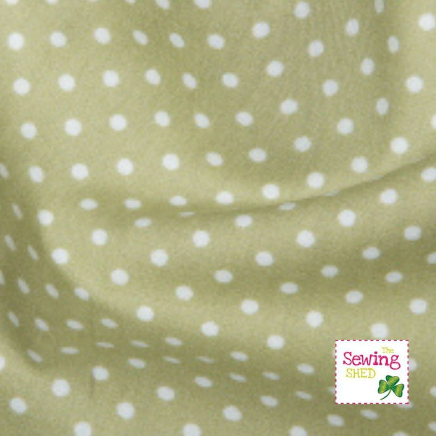 Polka Dot Fabric- Green