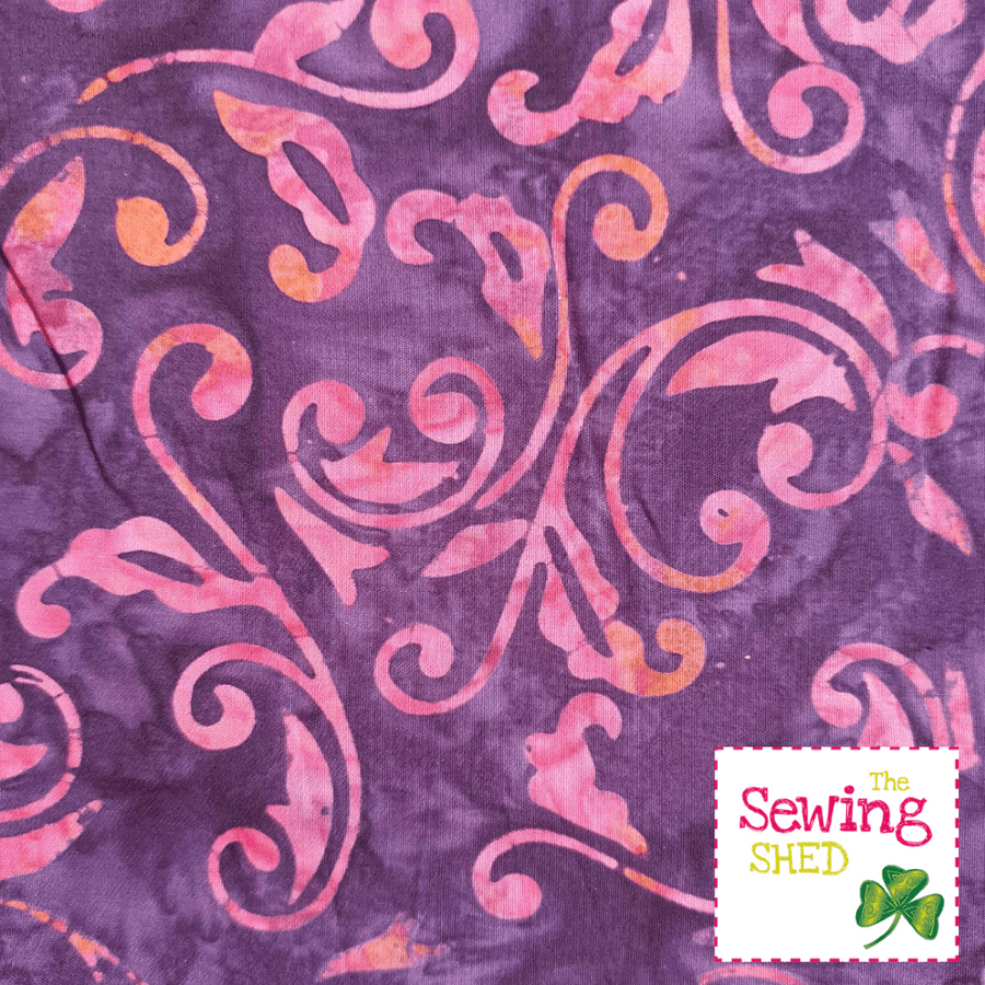 Beautiful Batik fabric Tropical Pinky