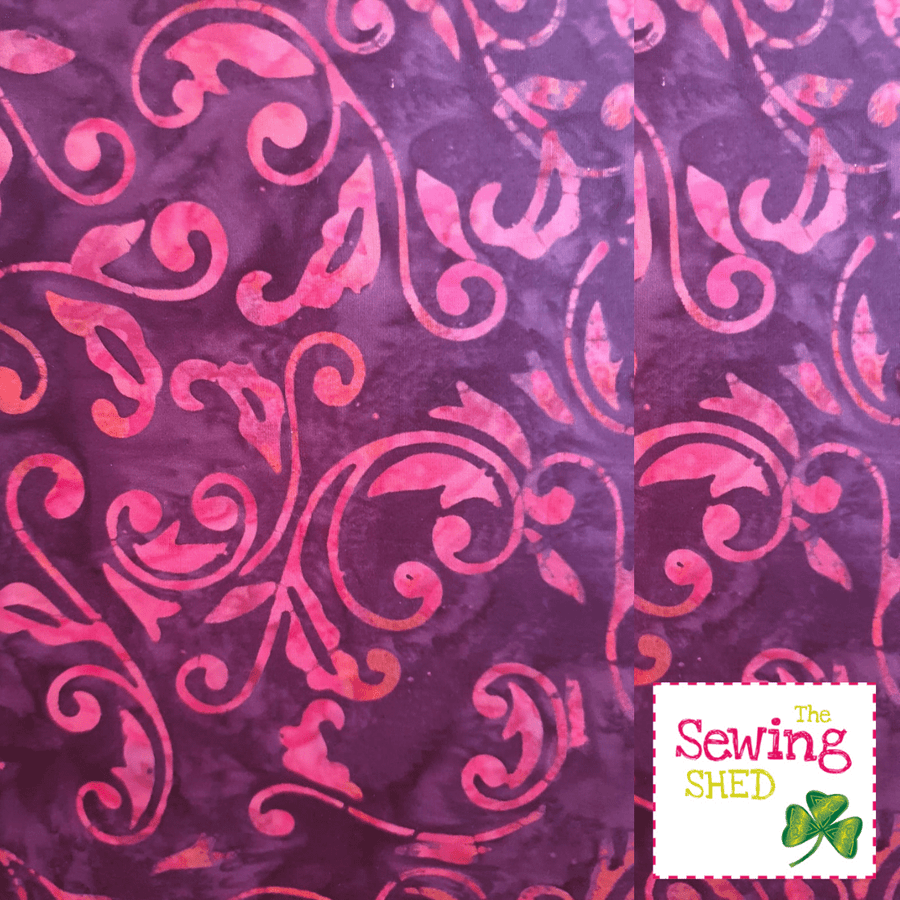 Beautiful Batik fabric Cerise