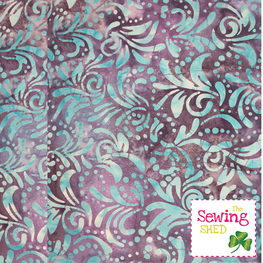Beautiful Batik fabric Lavender