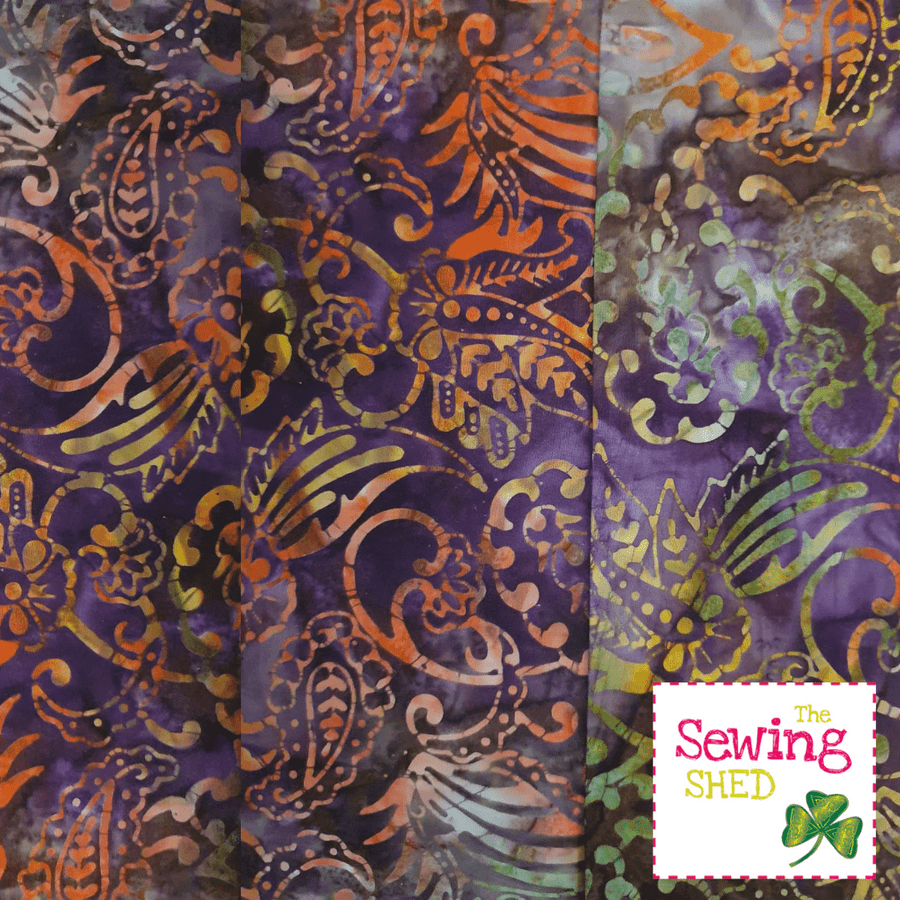 Beautiful Batik fabric Purple