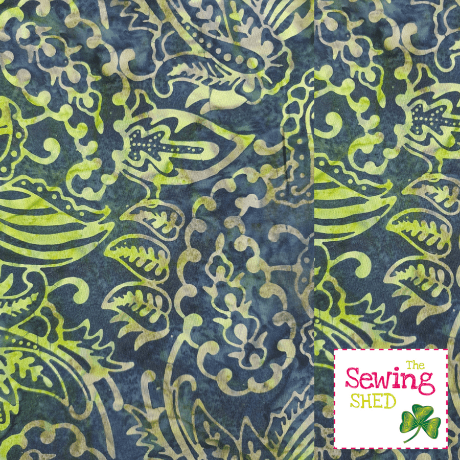 Beautiful Batik fabric Lime