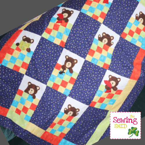 Beary Sleepy Cot Quilt Pattern