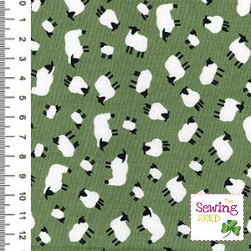 Traditional Sheep Fabric- sage