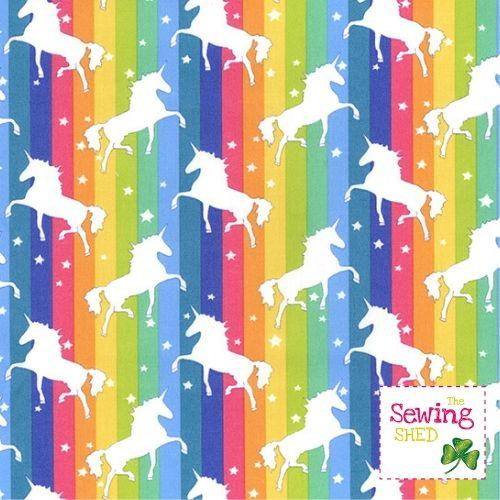 Unicorn Fabric- Rainbow Unicorn