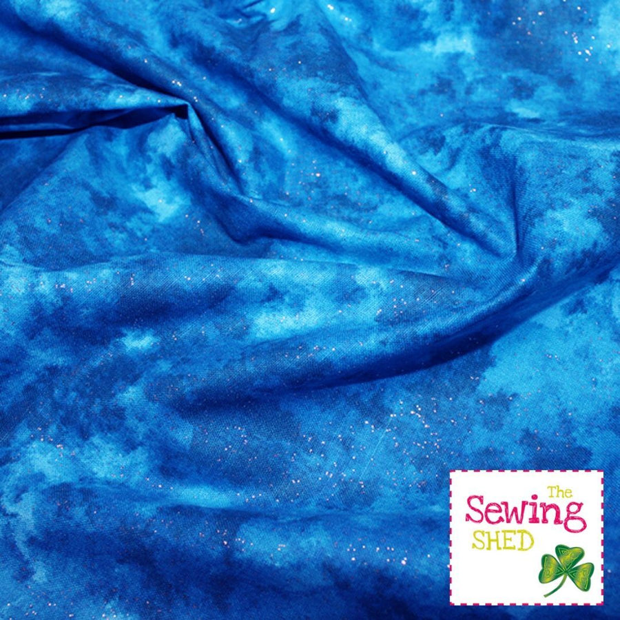 Pixie Dust Fabric Teal