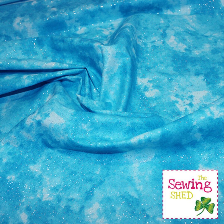 Pixie Dust Fabric-Turquoise