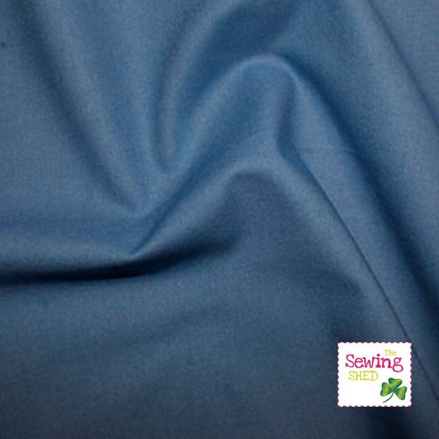 Plain Fabric- Cadet-Blue