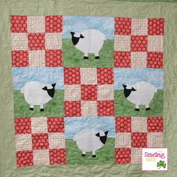 Sheep and Shamrocks Pattern