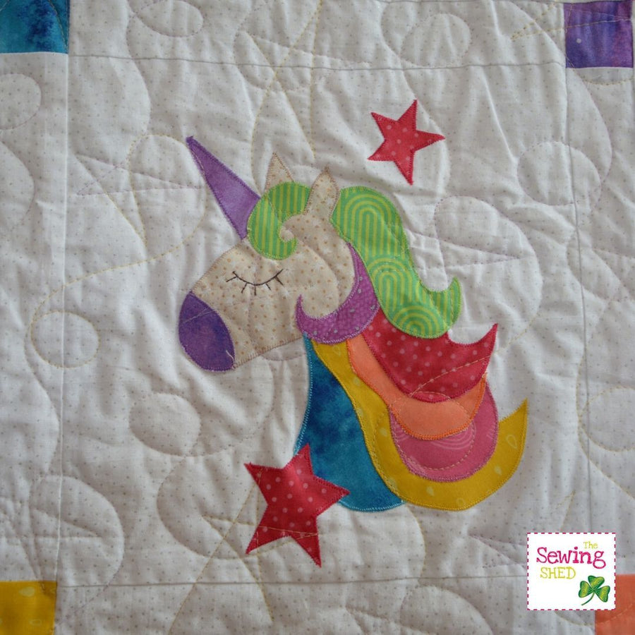 Unicorn Love Quilt Pattern  (Digital Download)
