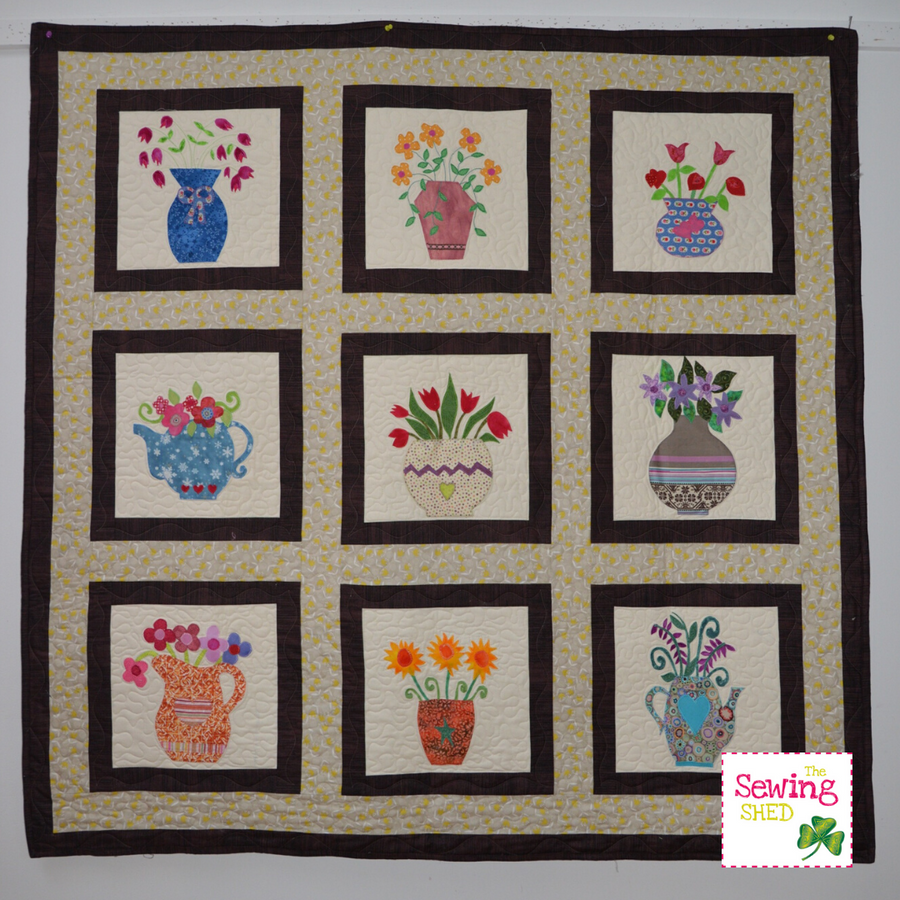 Vintage Floral Applique Quilt Pattern Book