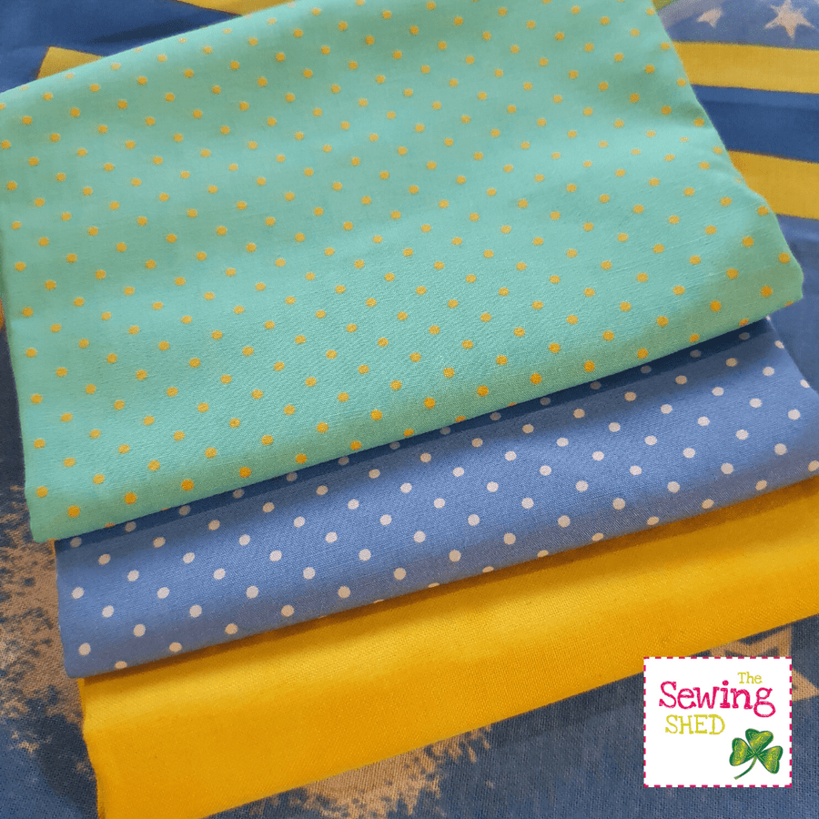 Half Yard Collections-Blue/Yellow