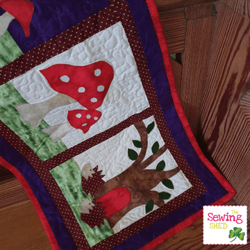 Hedgehog and Toadstool Wall-hanging Pattern