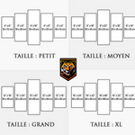 Guide taille tableaux tigres 5 pièces