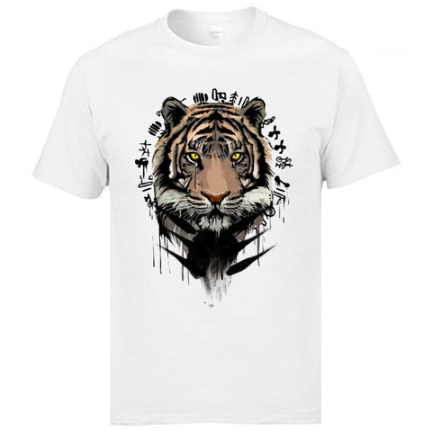 T-Shirt Tigre Écriture Chinoise