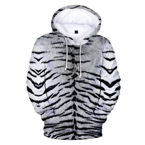 Sweat Tigre Rayures Gris