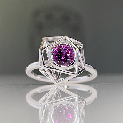 Instant Crush with Purple Garnet Ring in 14K White Gold