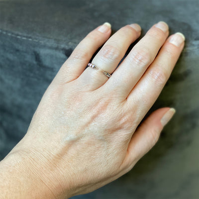 'Tender Love' Open Ring in 14K White Gold