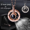 'I LOVE YOU' IN 100 LANGUAGES ADJUSTABLE RING+NECKLACE