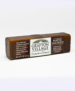 Grafton Village Cheese Maple Smoked Cheddar Bar 8 oz.