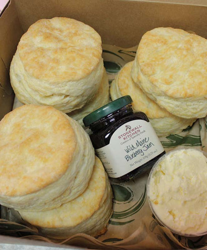 Half Dozen Buttermilk Biscuits with Butter and Jam