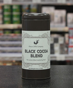 Ithaca Coffee Company Black Hot Cocoa Blend 6oz Canister