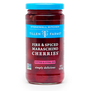 Tillen Farms Fire & Spiced Maraschino Cherries 13.5 oz.