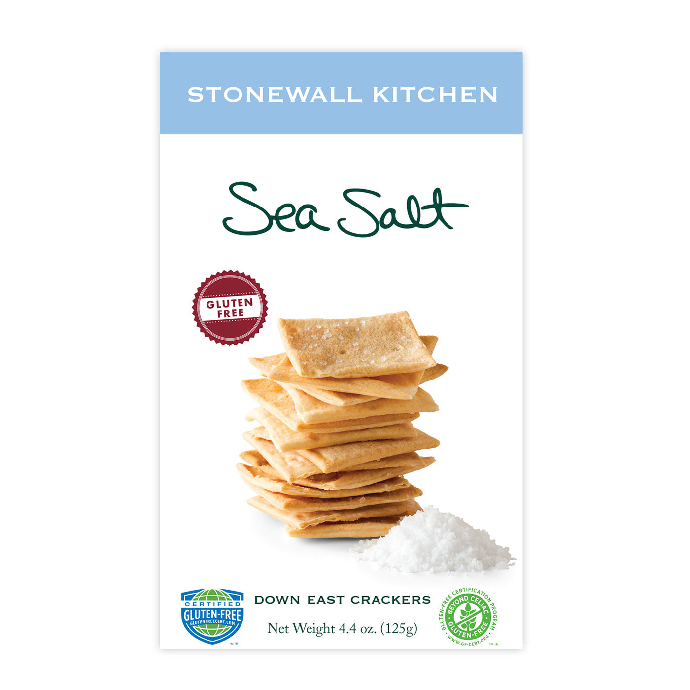 Stonewall Kitchen Gluten Free Sea Salt Crackers 4.4 oz.
