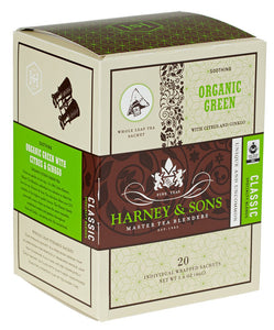 HARNEY & SONS ORG GREEN BOX OF 20 TEA SACHETS