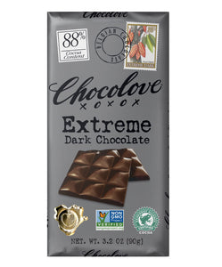 Chocolove Extreme Dark Chocolate 88% 3.2 oz.
