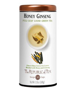 The Republic of Tea Honey Ginseng Green Tea Bags