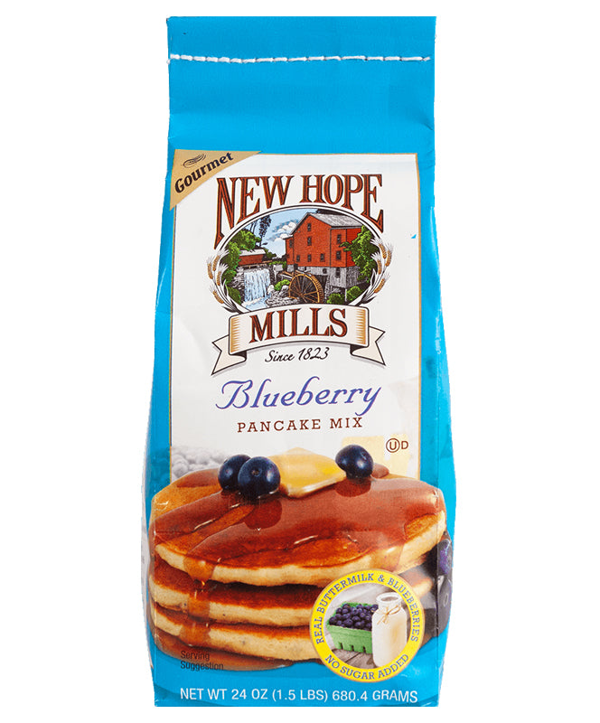 NEW HOPE MILLS BLUEBERRY PANCAKE MIX 24OZ