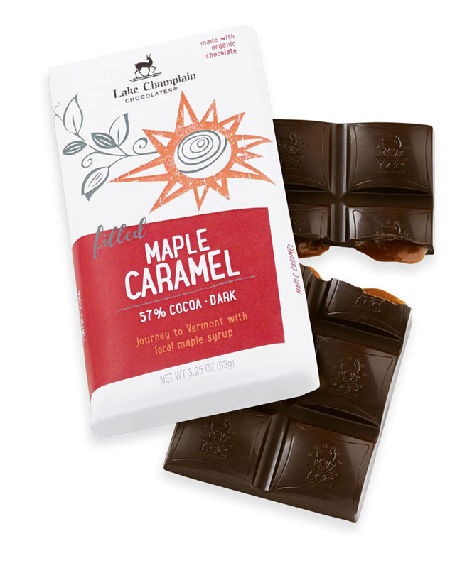 Lake Champlain Maple Caramel Dark Chocolate Bar 3.2 oz.