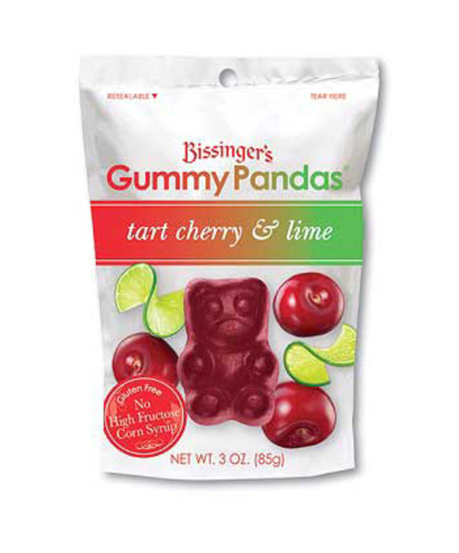 Bissinger's Tart Cherry & Lime Gummy Pandas 3 oz.