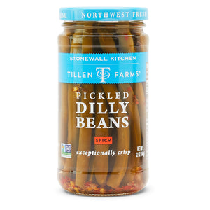 Tillen Farms Pickled Dilly Beans, Spicy 12 oz.