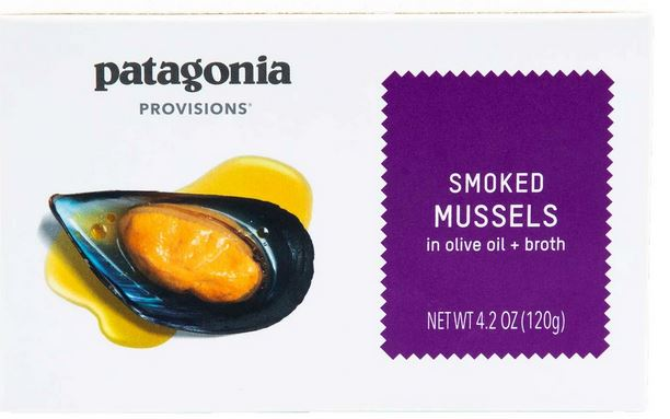 Patagonia Smoke Mussels in olive oil + broth 4.2 oz.