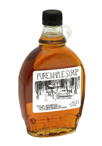 SYRUP 12 OZ SHILOH WITH FINGER LAKES ETCHING