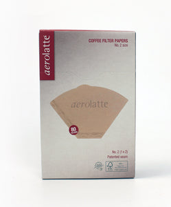 AEROLATTE FILTER #2 80CT UNBLEACHED