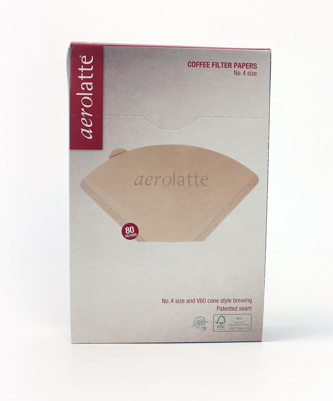 AEROLATTE FILTER #4 80CT UNBLEACHED