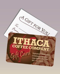 Ithaca Coffee Company Gift Card - In-store Use Only. Select denomination from drop down. Free shipping.