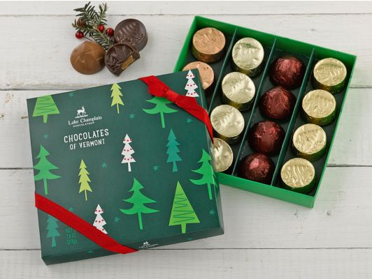 Lake Champlain Chocolates Holiday Chocolates of Vermont 16pc